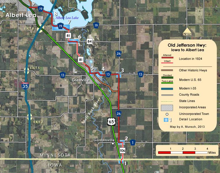 Old Jefferson Highway - Iowa State Line to Albert Lea