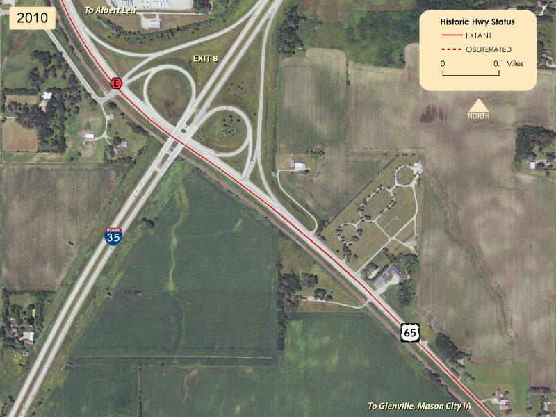 Modern US Iowa State Line To Albert Lea - 4 lane highway map of us