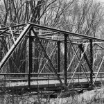 Bridge 122, constructed in 1911. The bridge has been closed due to its poor condition and a washout on its north end.