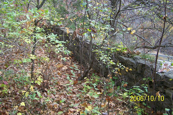 Retaining Wall, Old U.S. 14
