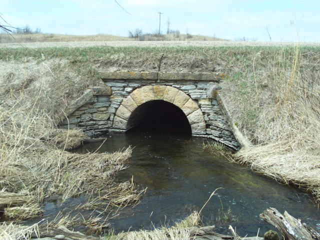 A stone culvert of possibly older vintage. Paul says that the old road was likely an old railroad grade from the 19th century. Could this culvert date back that long?