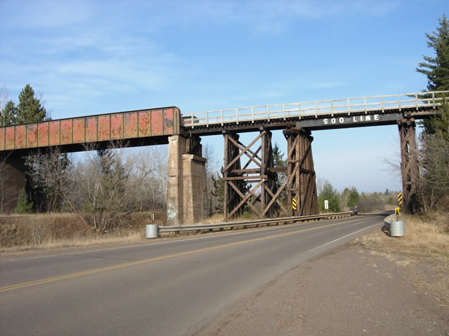 The Old Soo Line Trestle in Moose Lake.