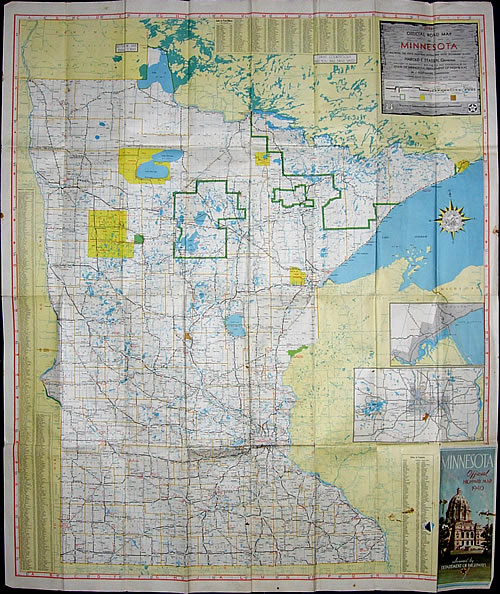 1940 Official Road Map of Minnesota