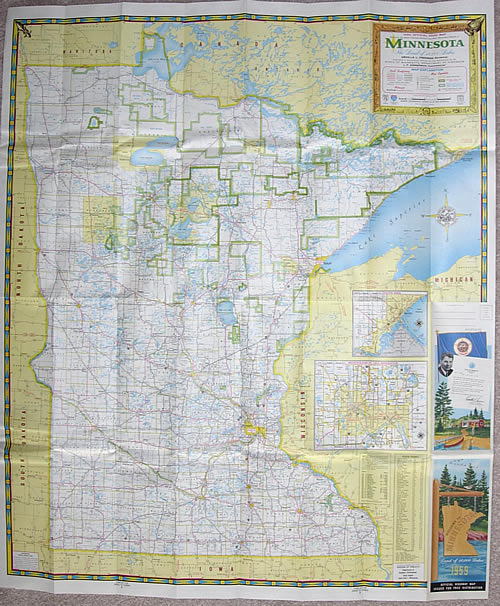 Official Road Map Minnesota - Mn road map