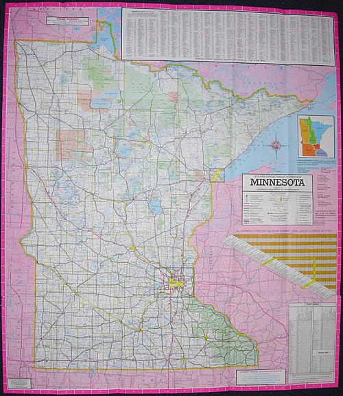 197980 Official Highway Map Minnesota