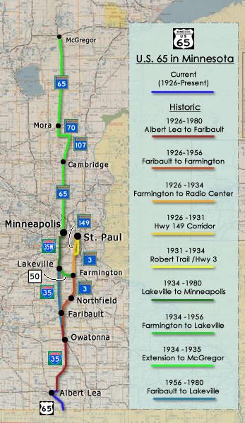 Historic Us Highway 65 Minnesota - Us-map-minneapolis